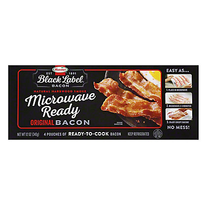 Hormel Microwave Ready Original Bacon, 12 oz